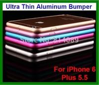 50pcs/lot DHL  Free Shipping Ultra Thin Aluminum Bumper Case for iPhone 6 Plus 5.5