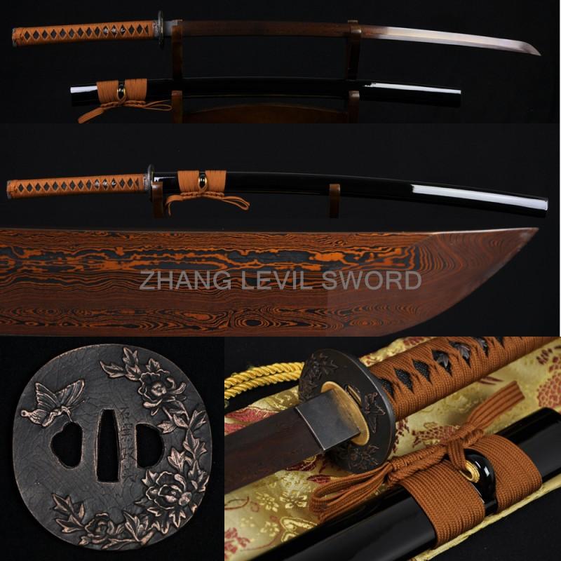 Damascus Steel Katana Sword Katana Sword Damascus