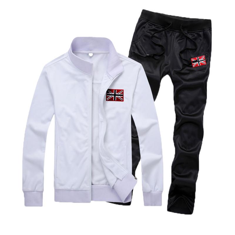 Sweatshirts 2015 Spring Sport Men Suit Sportswear Union Jack Men Jogger Set Preppy Style Tracksuits Men Mens Joggers Outfit(China (Mainland))