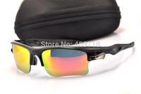 Designer Sports Acetate Sunglasses Fashion Eyeglass Men's/Women's Brand Fast Jacket OO9156-05 Black Sunglass Fire Iridium Lens