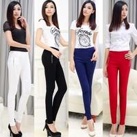 2015  slim skinny elastic  legging pants casual pants female trousers candy pencel pants plus1709