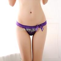 Womens Micro Thongs Leopard Print String Lace Waist Bikini Cute Underwear Sexy Panties Ladies Transparant Panty