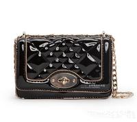 New 2014 MANGO fashion brand Women Messenger bag Small Crossbody chain bag Shiny diamond shape handbag designer women handbags