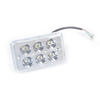 Free Shipping DC 9-12V Motorcycle Square Modification LED Headlight 15W 1500LM Head Lamp Super Bright [P634]