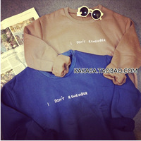 2014 Women Hoody Spring Autumn Long Sleeve Casual Sweatshirt Women Letter Printed casual Hoodies good quality 1215