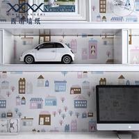 Wallpaper child cartoon pure paper, small eco-friendly formaldehyde wallpaper