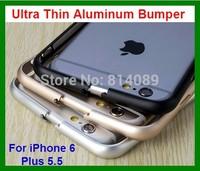10pcs/lot Free Shipping Ultra Thin Aluminum Bumper Case for iPhone 6 Plus 5.5