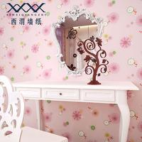 Wallpaper child real pure paper, formaldehyde cartoon girl princess pink rustic real background wallpaper