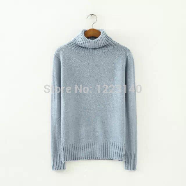 New Fashion Ladies' elegant High Neck Sweater Knitted Wear Casual Slim brand Designer Women Sweater(China (Mainland))
