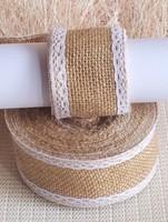 2015  Wedding decorative flowers&wreaths/Burlap Lace party napkin decoration/crafts wrap/burlap ribbon roll