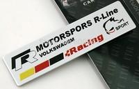 1pcs Car Motor Aluminium Alloy Fender Hood Trunk Badge Emblem R-line Racing