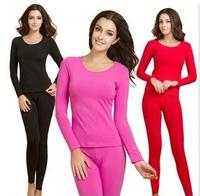 Thermal Underwear Women  Hot Sale Winter Antibiosis Warm Long Johns Underwears Top + Pant Sexy Slim Comfortable bodysuit  SJY730