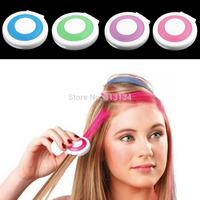 women's 4 color/ set Temporary Hair color Chalk Powder hair Dye Salon Party DIY Pressed Powder paint For Hair Coloring