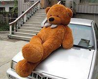 "Giant Huge 90""/230cm Brown Teddy Bear Stuffed Plush Toy / Free Shipping"