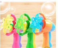 Automatic bubble machine Light music magic wand electric toys bubble gun A bubble toys