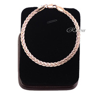 1pcs Man Womens 5mm 18K Rose Gold Filled Snail Bracelet Wristband E294