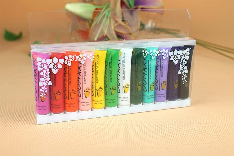 Vente en gros nouvelle conception 3d peinture uv gel acrylique nail art pen tube 12 couleurs de vernis à ongles faux conseils dessin, 12pcs/lot livraison gratuite