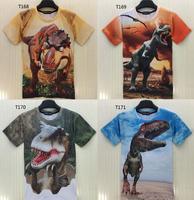 (Alice)Dinosaur both side good print tshirts men o neck short sleeve casual tshirt 3d t shirt T168-T172 free shipping
