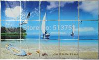 Home art Wall sticker Landscape Kitchen decor High-temperature aluminum Perkin oil stickers - dream beach