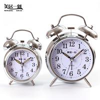 Vintage small alarm clock creative clock metal mute clock luminous personalized clock lounged clock