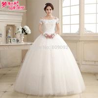 2014 autumn and winter slit neckline bag the wedding dress h1726