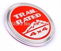 1pcs Car Motor Aluminium Alloy Fender Hood Trunk Trail Rated 4x4 Badge Emblem Red or Black