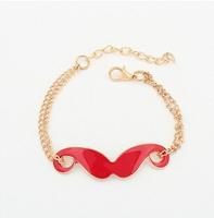 cartoon joker lovey beard bracelet bangle jewelry