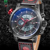 Relogio masculino watch weide 2014 new digital led quartz watches men luxury brand sport Military genuine leather men wristwatch