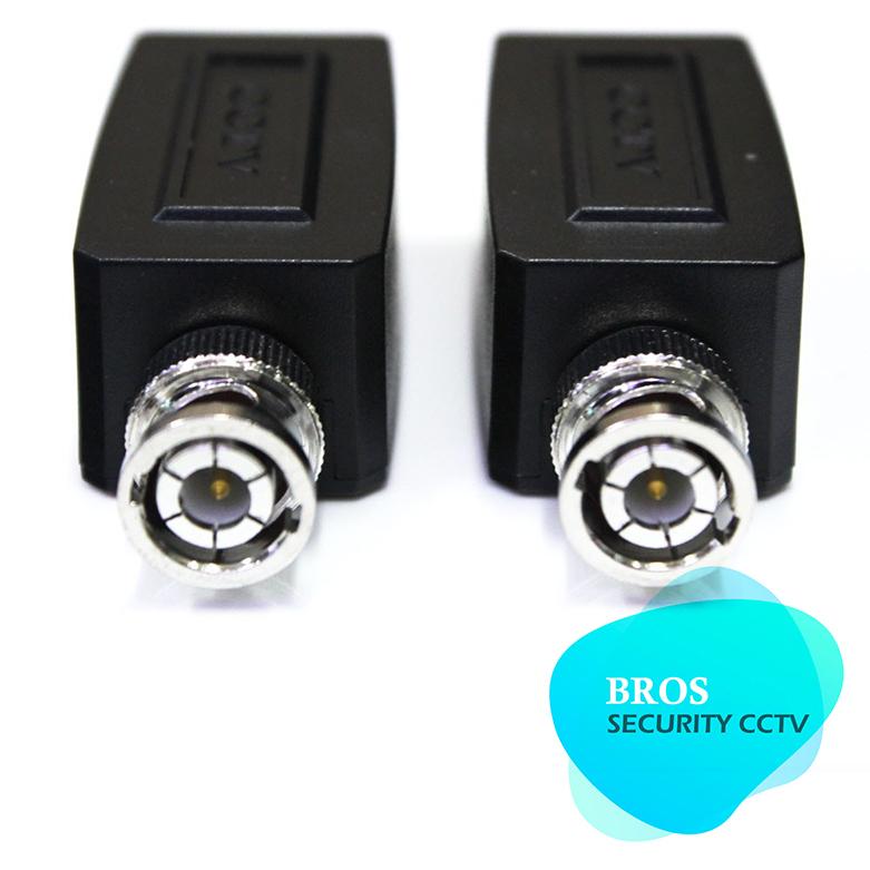 1 pair Coax BNC RJ45 UTP Cat5 Active Video Balun Transceiver Pair for CCTV Camera(China (Mainland))