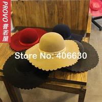 2014 winter new wool felt floppy hats for women, ladies dress church hats, female tea party hat,  free shipping