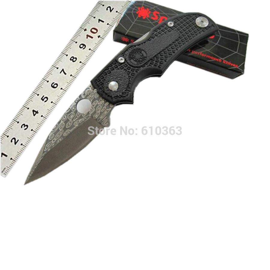 Venda de alta qualidade artesanal F23 Damasco lâmina aço pequeno bolso fa