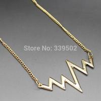 6pcs/lot latest fashion women jewelry accessories wave pendant necklaces 2015