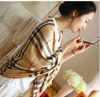 Women Scarf   long design cape Cashmere Crinkled Giant Check Scarf  Plaid 180*70cm