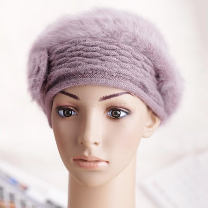 Зимние теплые шапки моды женщин вязаный