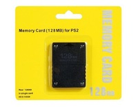 100pcs/lot  Wholesale cheap price 128MB 128M High Speed Memory Card for PlayStation 2 PS2 DHL FEDEX UPS FREE SHIPPING
