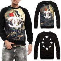 Unisex Harajuku Brand Homme Femme Sweater 3D Sweatshirts Dual C War printing Men Women Sweater Hoodies. Free Shipping