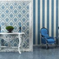 Ab blue fashion non-woven wallpaper eco-friendly wallpaper