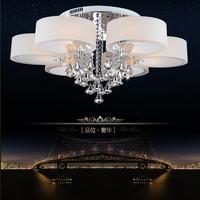 Brief modern led ceiling light living room/bedroom/dining room pendant light crystal lighting free shipping 1 light- 7 lights