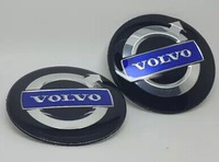4pcs 60mm Car Motor Auto Metal Wheel Emblem Badges Resin Cambered Surface For VO # LVO