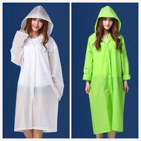Fashion eva translucent scrub adult raincoat male women's lovers long design fashion poncho waterproof