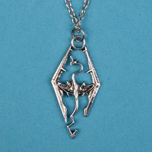 2014 new dinosaur Skyrim Elder Scrolls dragon pendant necklace Popular personalized jewelry  YP0182