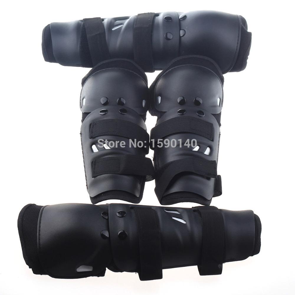 Motorcycle Sports Elbow Guard + Knee Pad Set - Black (4 PCS)(China (Mainland))