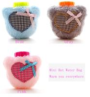 Love Plush Pocket Warm Mini Hot Water Bag Bottle Warm Water Bag 2014 New Arrival High Quality