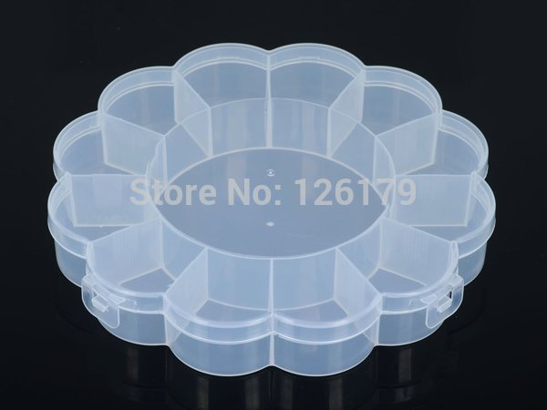 Plastic (1 Big, 12 Small) Compartments Flower Shape Round Boxes Tablet Pill Medicine Organizer Beads Jewelry Storage Box Case(China (Mainland))