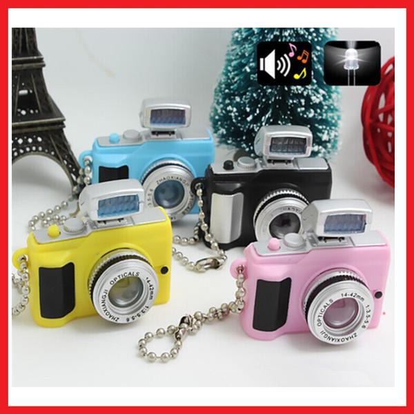 Lovely Camera Led Sound Keychain Flash Light Torch Child's Toys Phone Decoraion(China (Mainland))