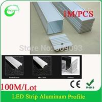 100M/Lot  Hanks profile led bar light width up to 31mm  aluminum profile for double row led strips light