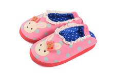 free shipping cartoon  comfortable plush  children slippers for winter(China (Mainland))