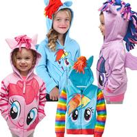 My little pony kids jackets girl boy Coat Spring autumn Long sleeve Girl boy Coat hoodies baby girls Cotton Jacket baby clothing