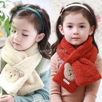 Autumn/winter/spring 2015 new children's Korean plush bear scarves for girls cheap scarves wholesale 5 colors