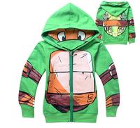 2015 new Free shipping boys Teenage Mutant Ninja Turtles TMNT Long sleeve jacket hoody hoodies zip coat top baby clothing